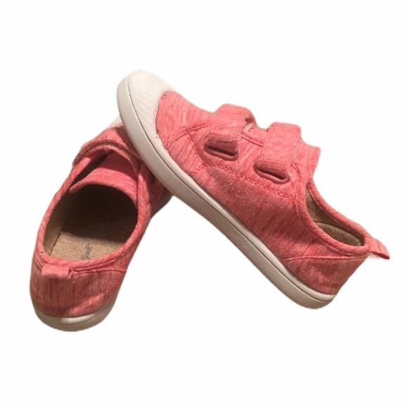 Pink Velcro Strap Toddler Girl Sneakers